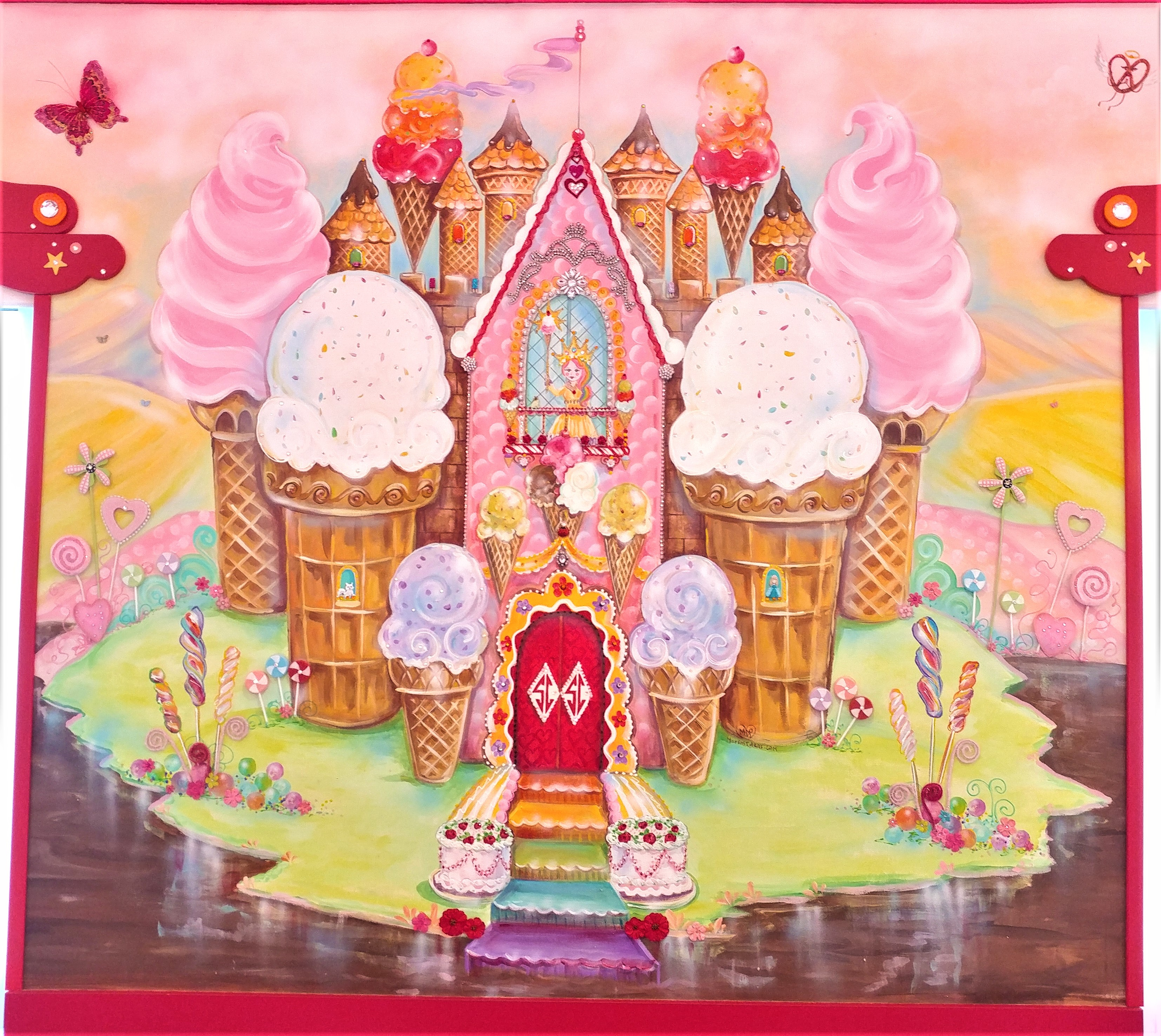 candyland, sarris candies, hand painted, murals, cany art, whimsical art, maria desimone prascak