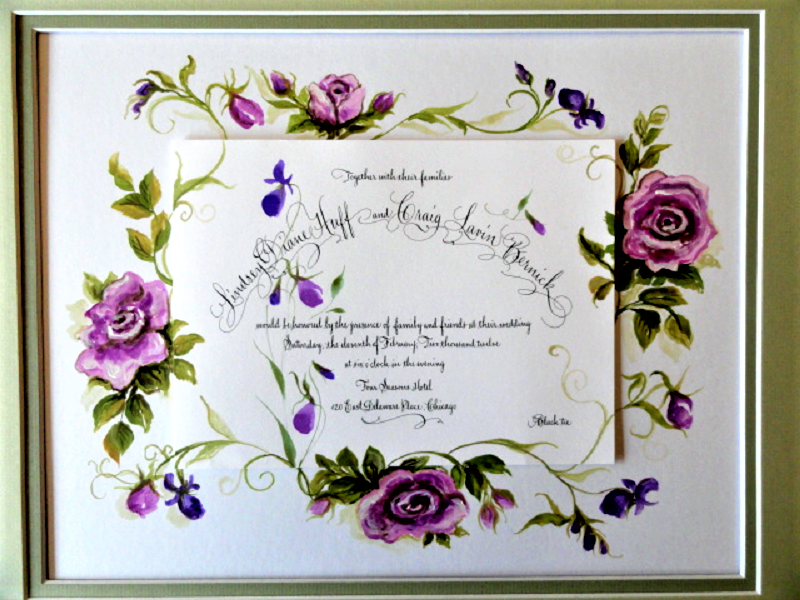wedding invite art