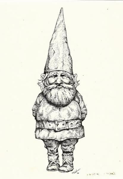 pen and ink gnome